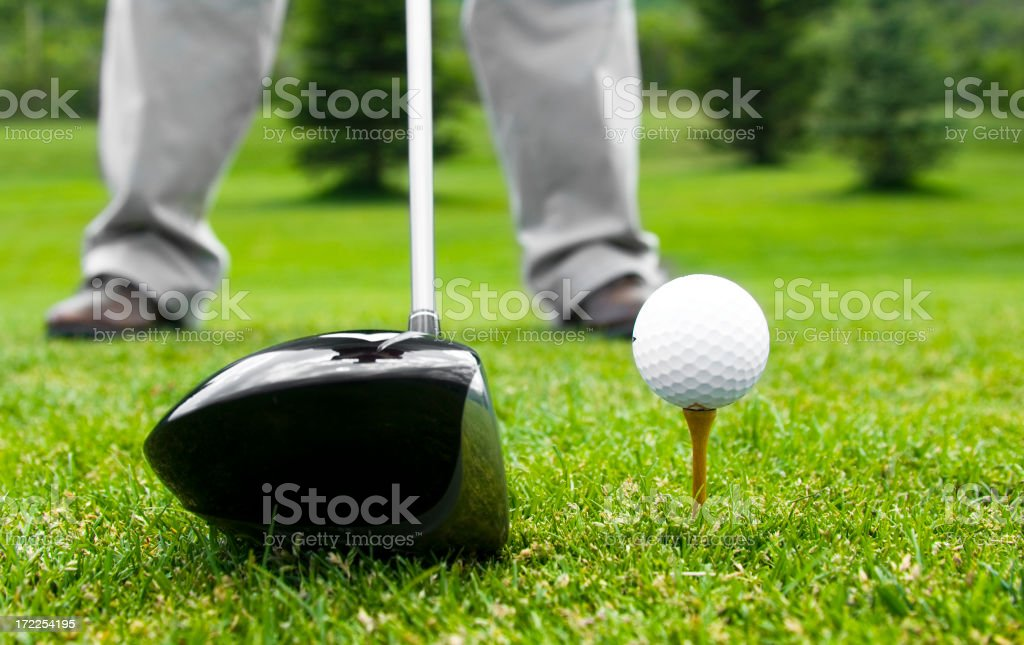 tee-off royalty-free stock photo