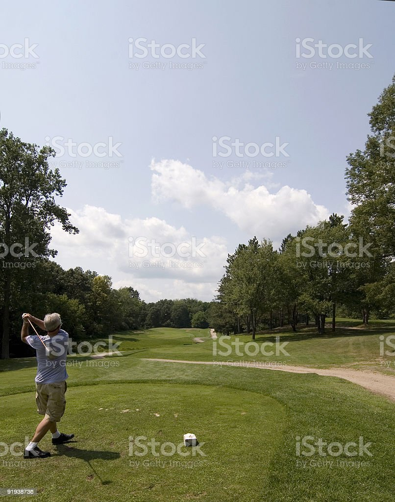 Tee-off time royalty-free stock photo