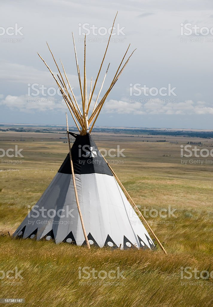 Teepee and Grasslands royalty-free stock photo