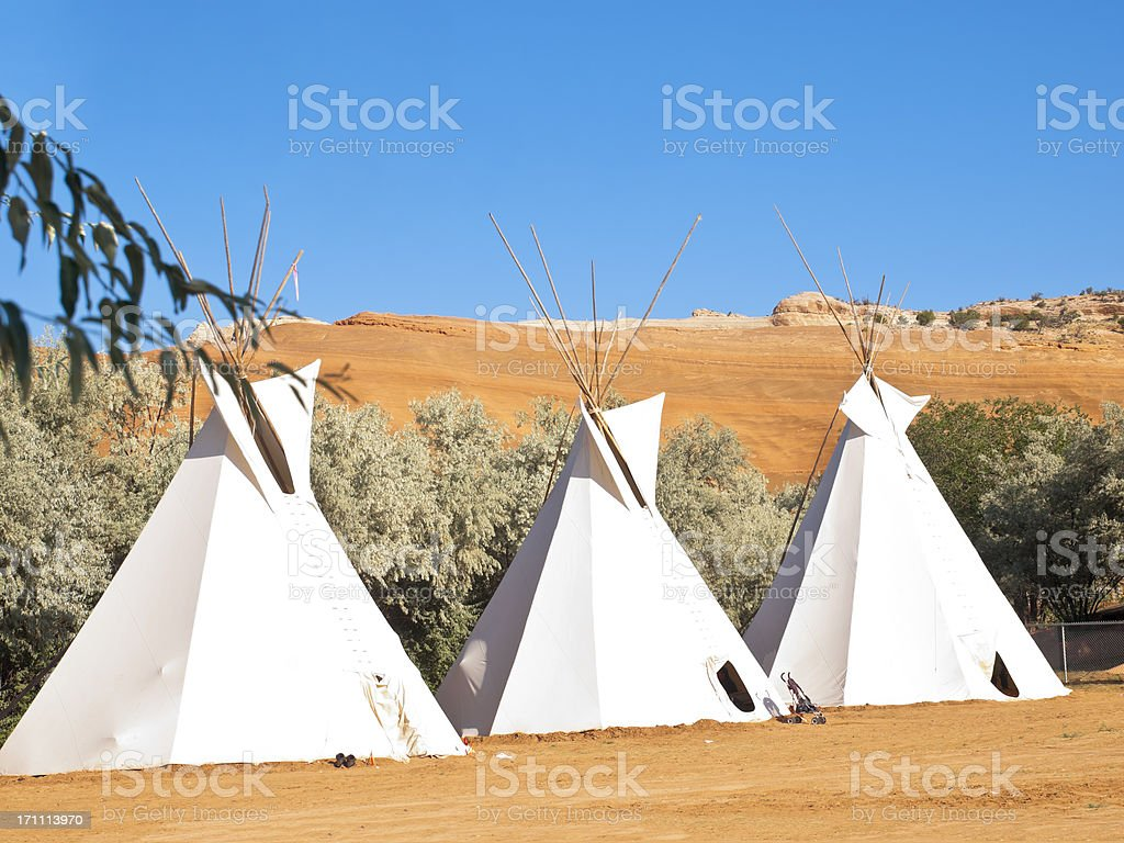 Teepee Authentic Native North American stock photo