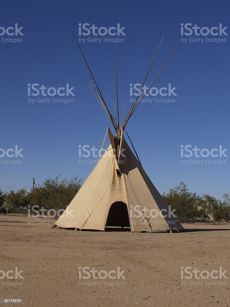 TeePee In The Desert stock photo