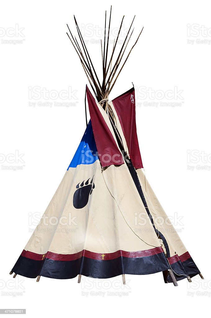 Teepee Isolated on White royalty-free stock photo
