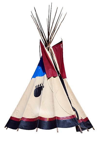 Teepee Isolated on White stock photo