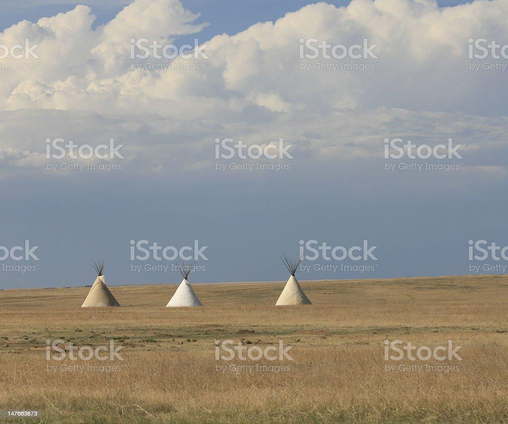 Teepee on the plains stock photo
