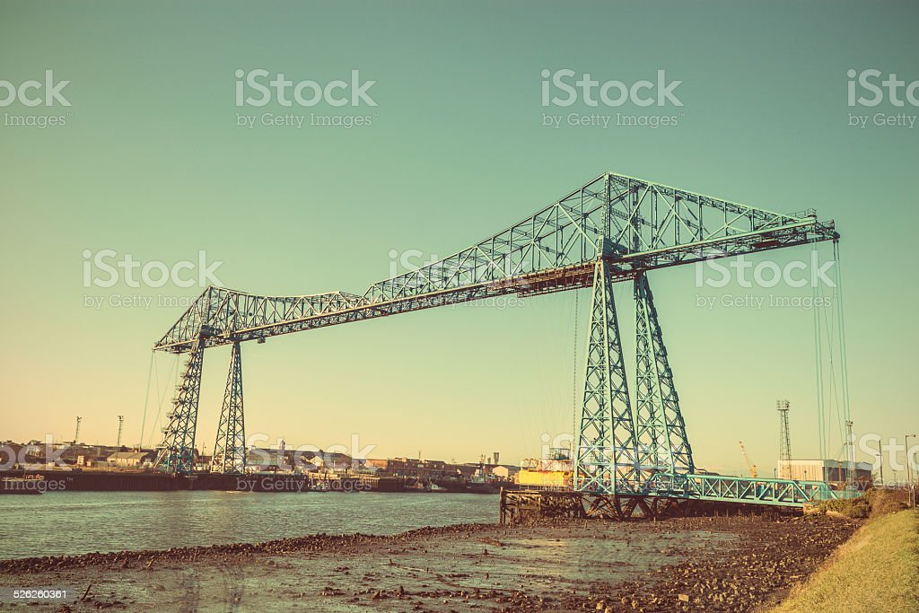 Tees Transporter Bridge stock photo