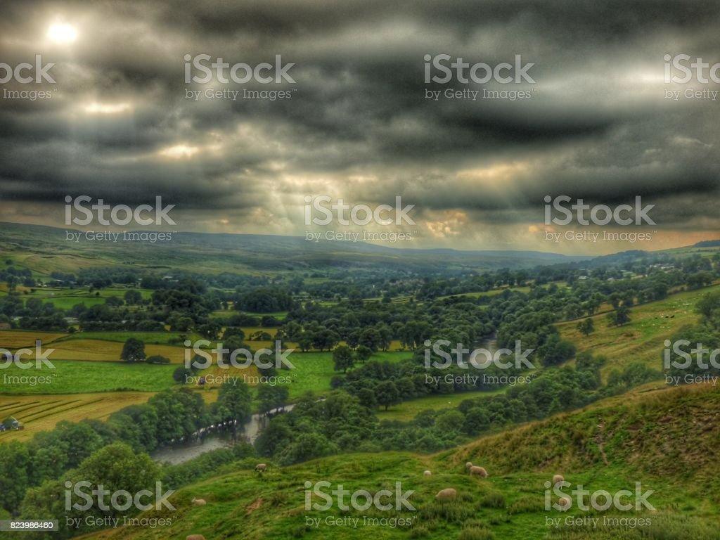 Teesdale Sky stock photo