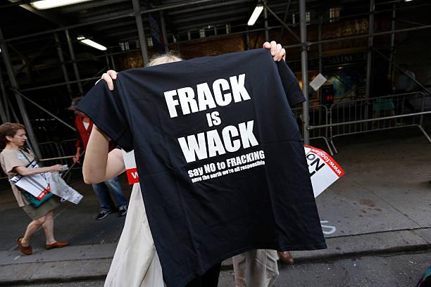 FRACK IS WHACK teeshirt stock photo