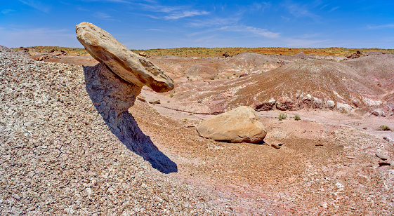 Teetering Table in Petrified Forest AZ in Petrified Forest National Park, Arizona, United States