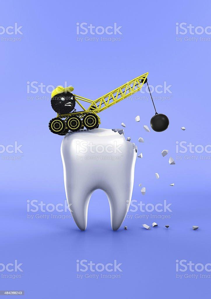 Teeth and Bacteria stock photo