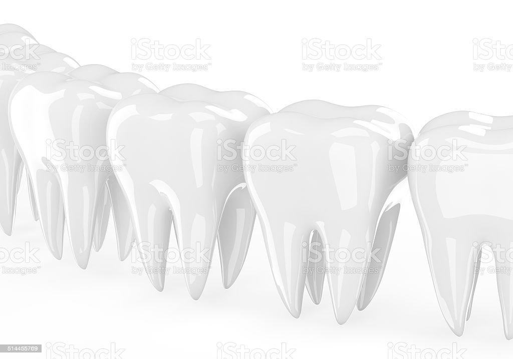 teeth on white stock photo