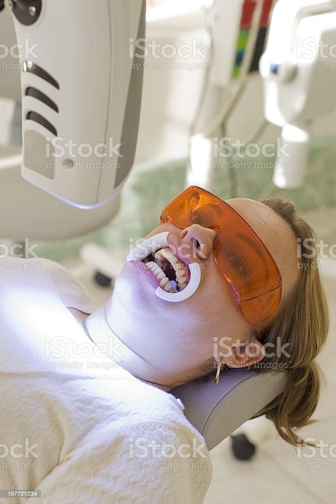 Teeth Whitening Beam Machine stock photo