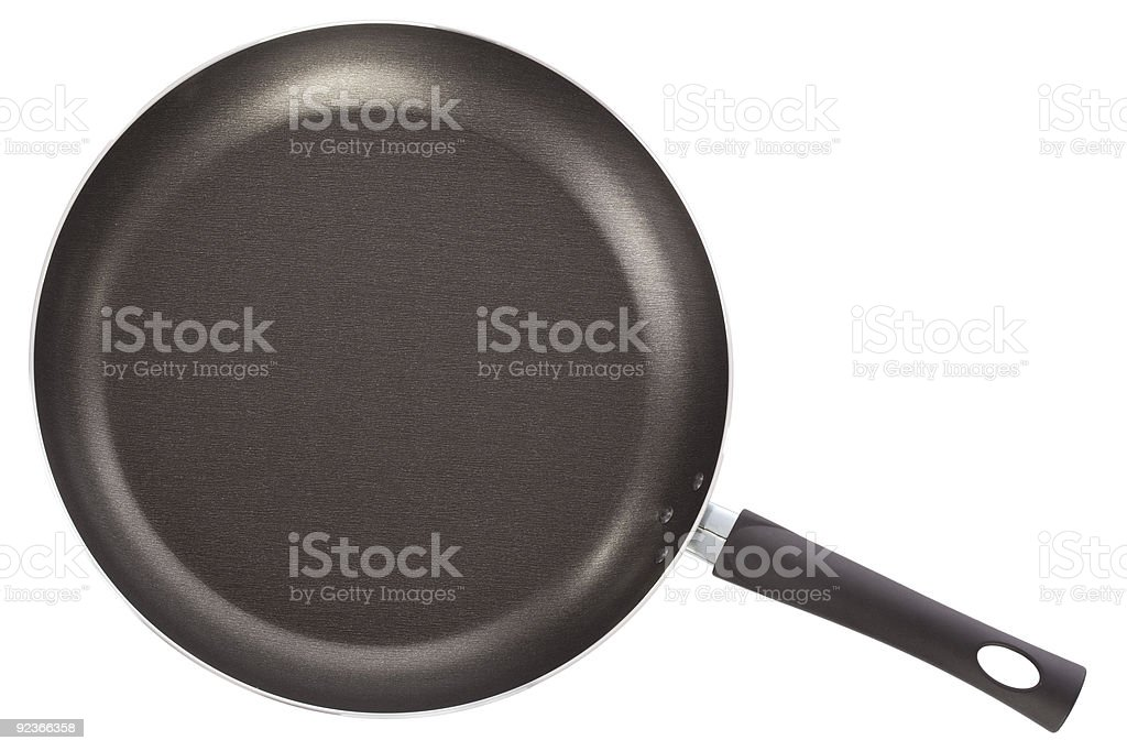 Teflon frying pan isolated on white royalty-free stock photo