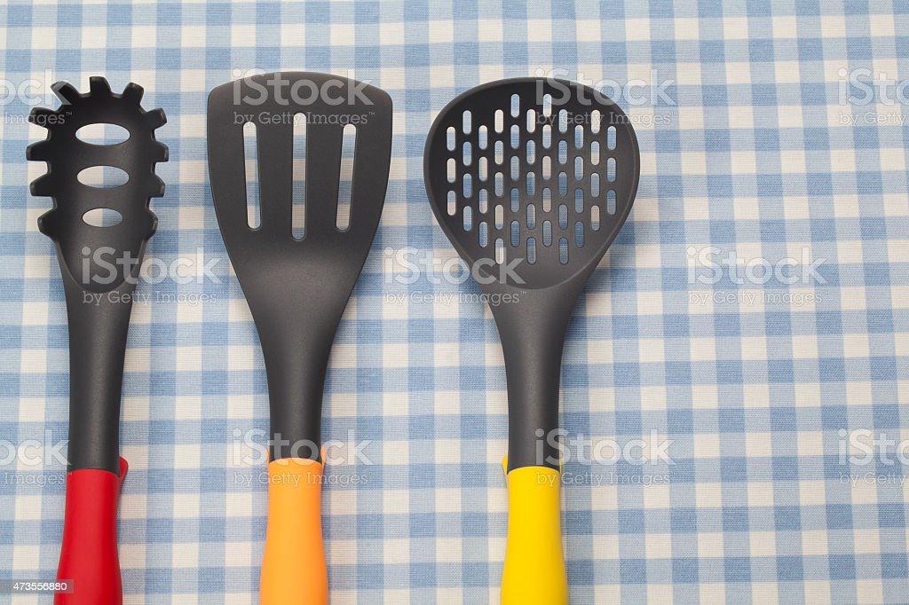 Teflón Utensilios De Cocina Stock Foto e Imagen de Stock 473556880 ...