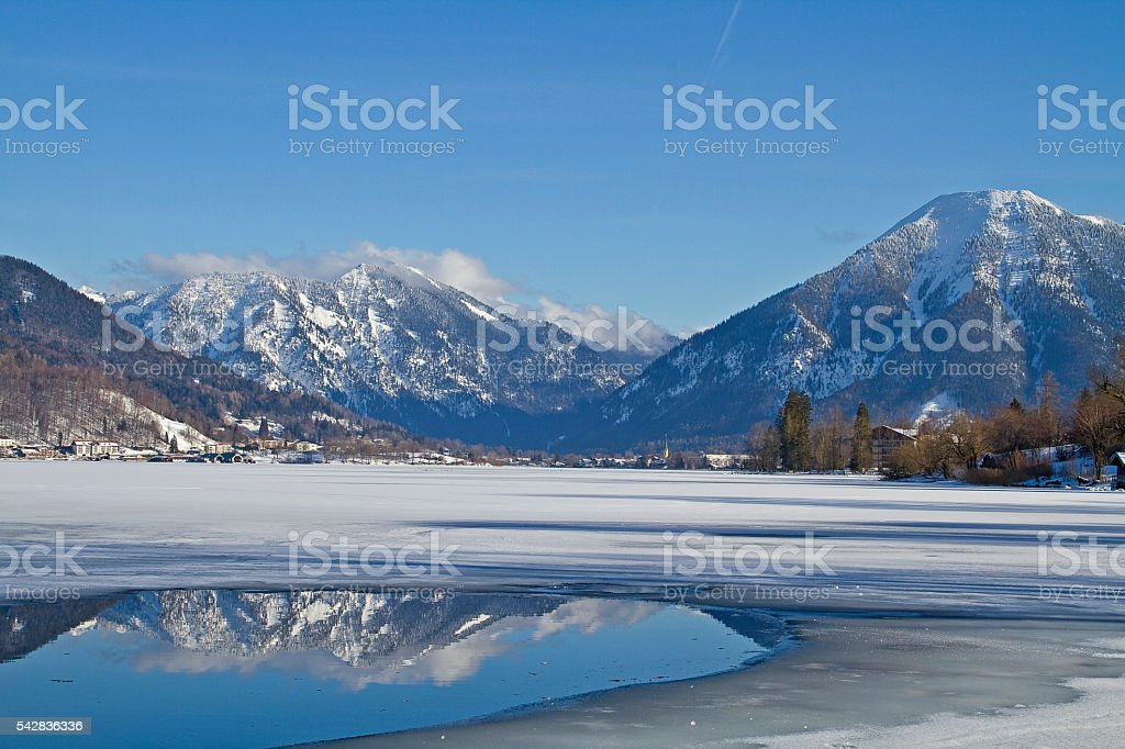 Tegernsee in  winter stock photo