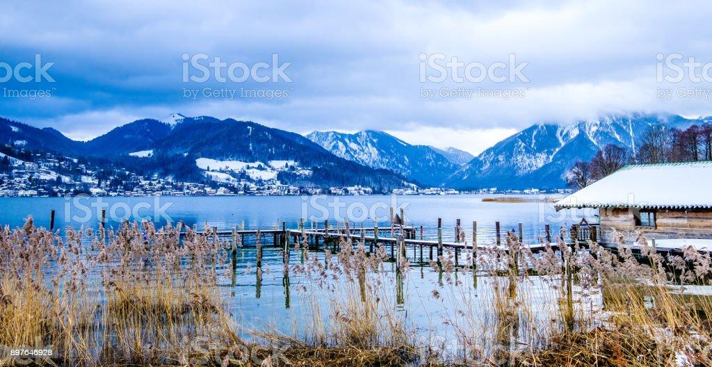 tegernsee lake - bavaria - germany stock photo