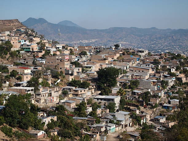 Tegucigalpa Homes in the suburbs of Tegucigalpa, capital city of Honduras. honduras stock pictures, royalty-free photos & images