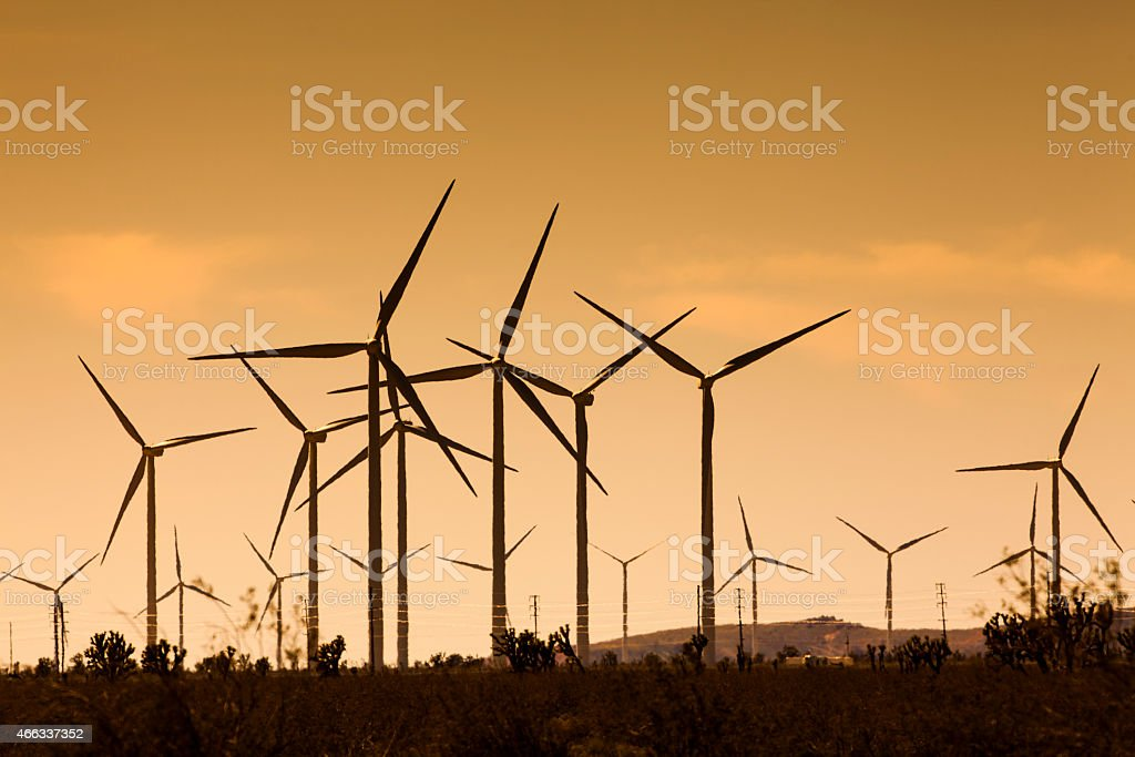Tehachapi Wind Farm stock photo