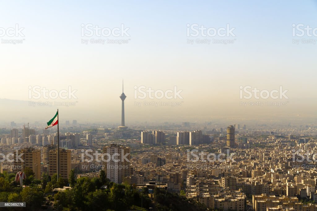 Tehran, capital of Iran. stock photo