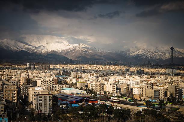 Teheran auf die Skyline der Stadt – Foto