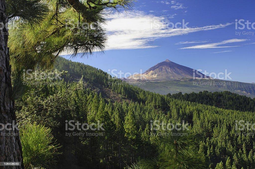 Teide and Orotava stock photo
