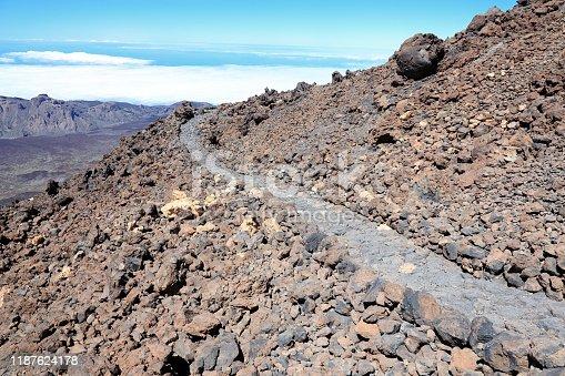 istock Teide hiking path 1187624178