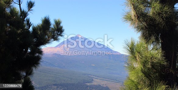 istock Teide mountain and Orotava valley, Tenerife, Spain. Beautiful background. 1225866479