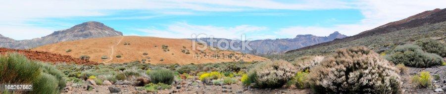 istock Teide national park with treeless Llano de Ucanca valley. tenerife 168267662