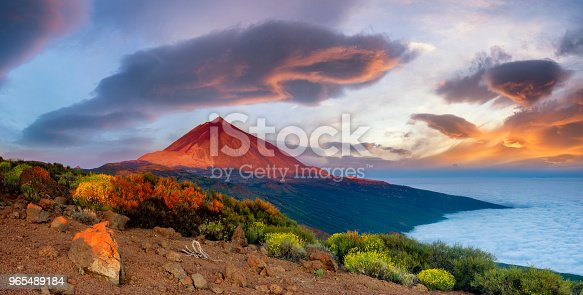 istock Teide volcano in Tenerife in the beautiful light of the setting sun 965489184