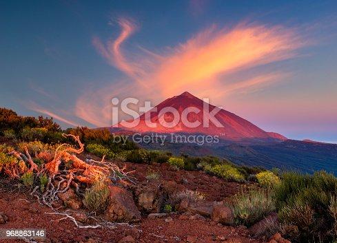 istock Teide volcano in Tenerife in the light of the rising sun 968863146