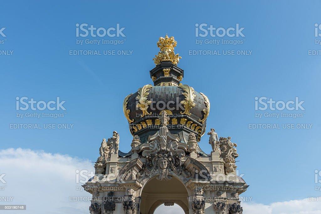 Teilansicht des Kronentores in Dresden stock photo