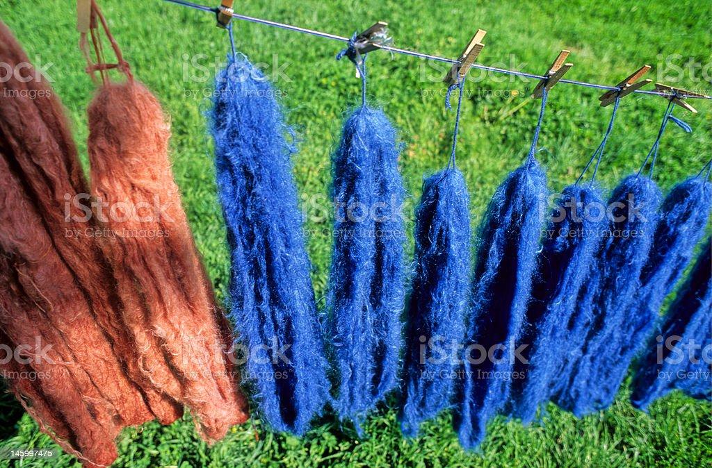 teinture de la laine royalty-free stock photo