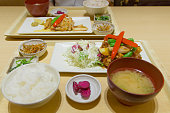 Teishoku, Japanese lunch meal at a restaurant