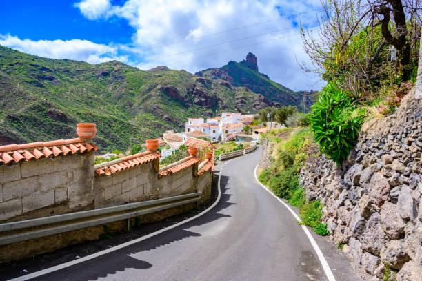 Tejeda - Village in mountain scenery in Gran Canaria - beautiful canarian island of Spain