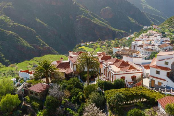 Tejeda Dorf in den Bergen von Gran Canaria, Kanarische Inseln, – Foto