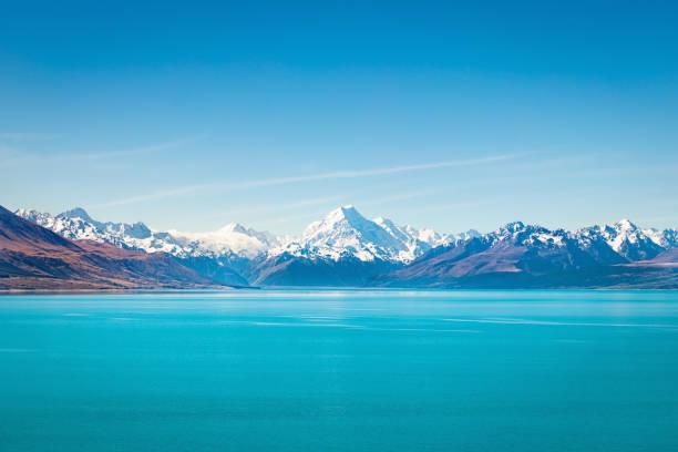 Tekapo Lake Aoraki Mount Cook New Zealand stock photo