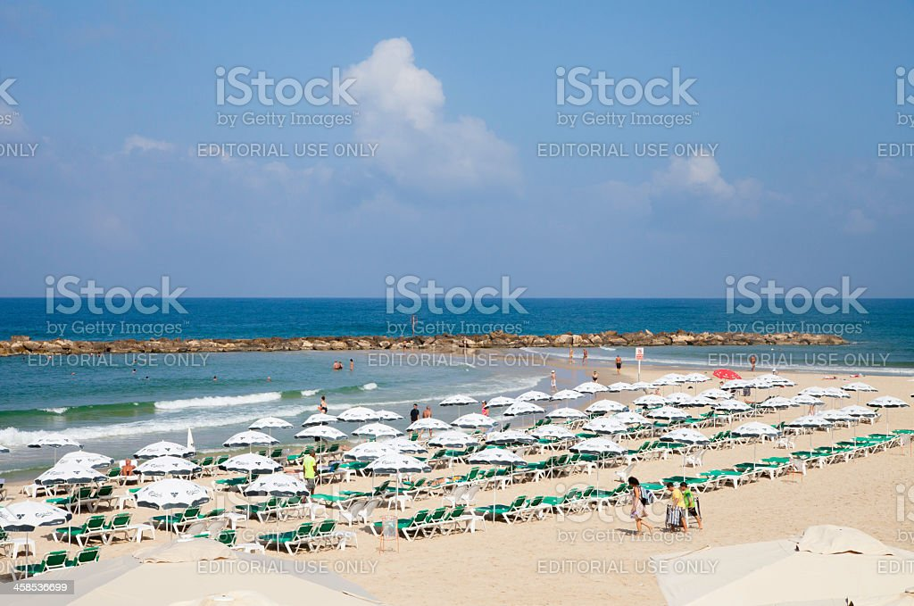 Tel Aviv Beach royalty-free stock photo