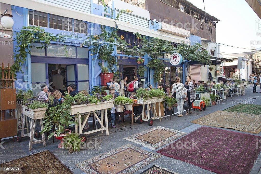 Tel Aviv Cafe stock photo