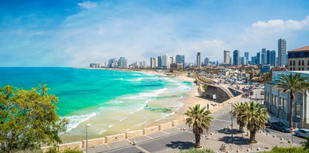 tel aviv kust - israël stockfoto's en -beelden