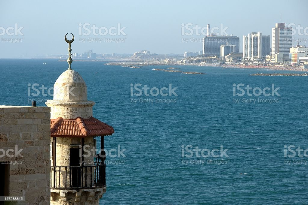Tel Aviv from Jaffa City (Israel) stock photo