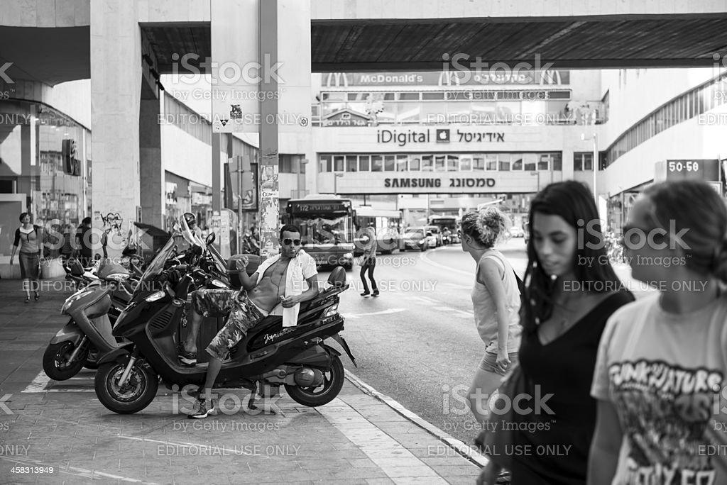 Tel Aviv street life royalty-free stock photo