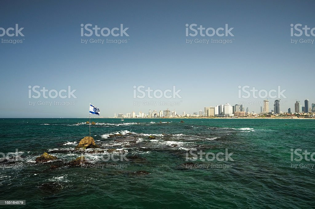 Tel Aviv, view from the sea royalty-free stock photo