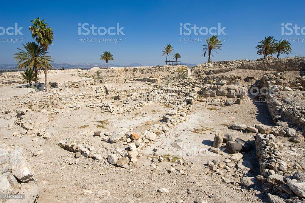 Tel Megiddo National park stock photo