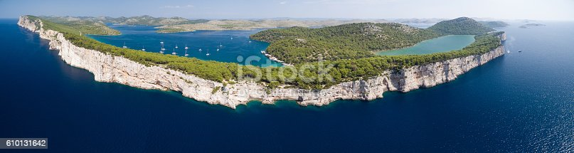 istock Telascica cliffs in National park Kornati, Croatia 610131642
