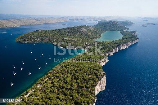istock Telascica nature park and Slano lake in Croatia 610132124
