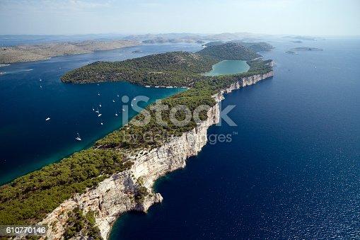 istock Telascica nature park and Slano lake in Croatia 610770146