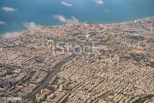 Bird eye view of Tel-Aviv, Israel