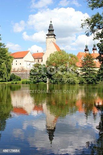 490314373 istock photo Telc castle and its mirror image, Moravia, Czech republic 486129684