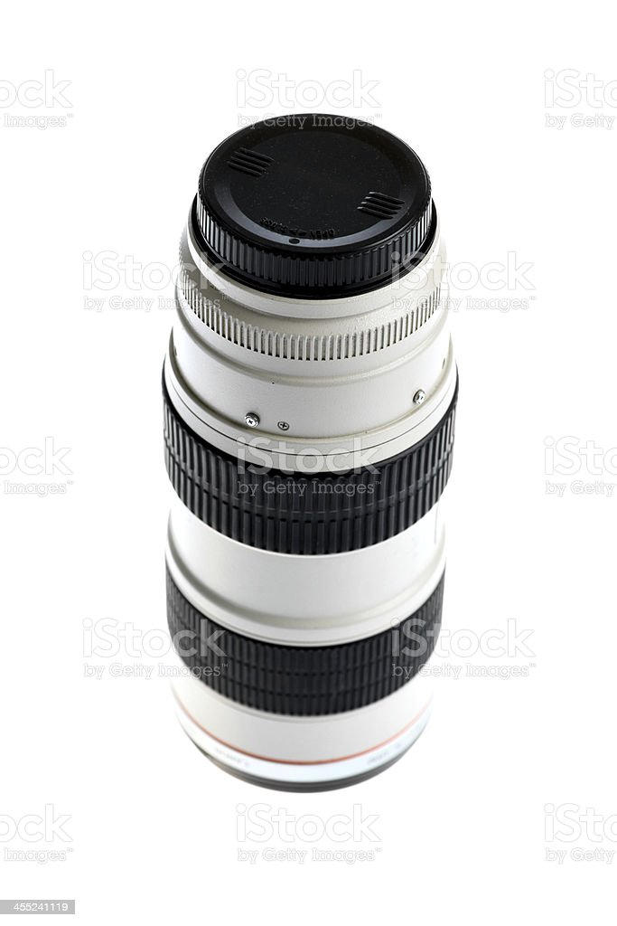 Tele lenses stock photo