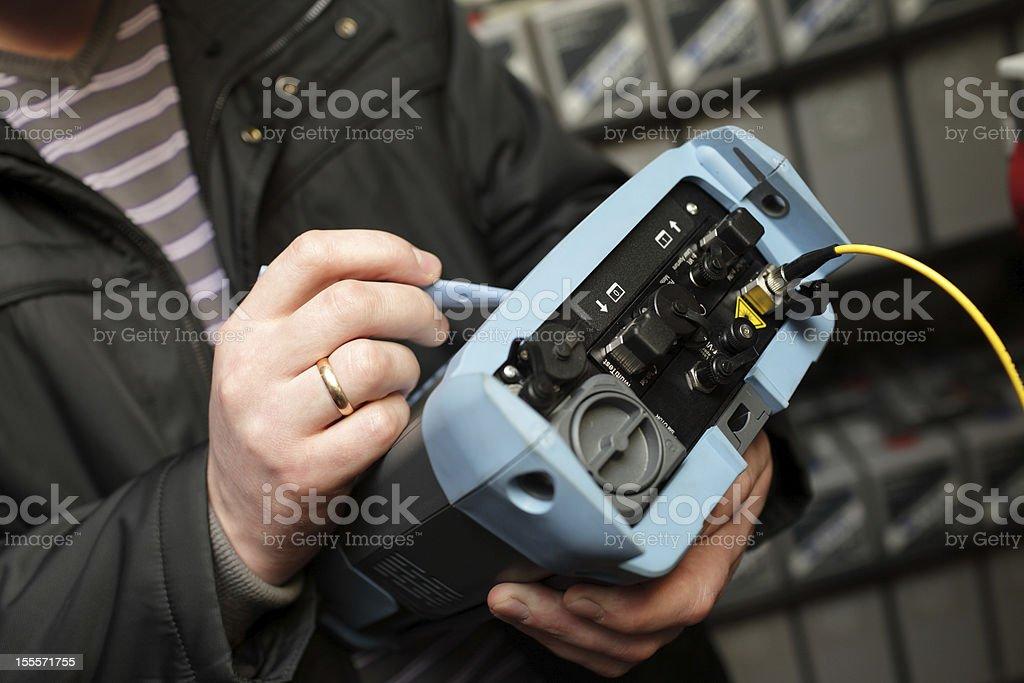 Telecom analyzer stock photo