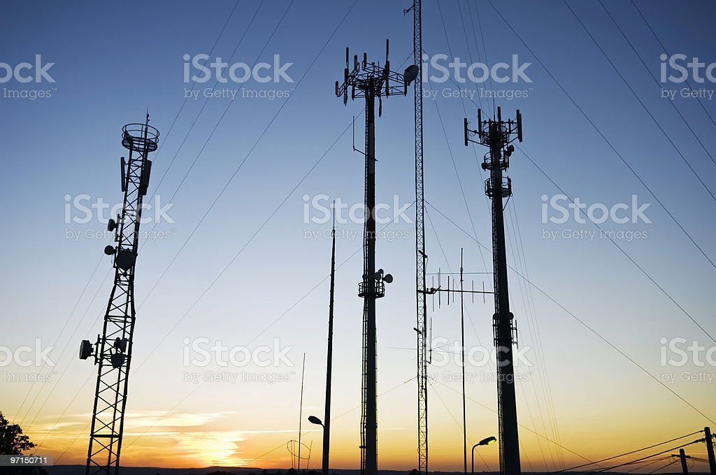 Telecom antennas stock photo